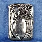 Art Nouveau Vienna Secession Sterling Silver 800 Cigarette Case