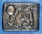 1920 Chinese Export Silver Cigarette Box with Dragon Design