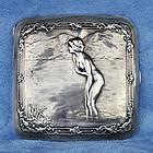 German Erotic Antique Art Nouveau Silver Cigarette Case