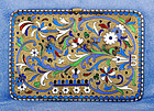 Imperial Russian Silver Enamel Cigarette Case Vesta Box 156 Grams