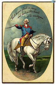 George Washington's Birthday Greetings Antique Embossed Postcard 1900