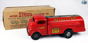 Vintage 1950's GMC Pressed Steel Structo 66 Gas Fuel Tanker Oil Truck