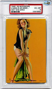1940 Mutoscope-A MISS IS AS GOOD AS HER SMILE-Pin Up-PSA-MT6
