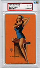 """1945 Mutoscope Pin Up, """"UP AND CUNNING"""" - PSA EX - MT 6"""