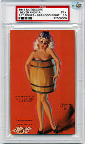 1945 Mutoscope-I NEVER PLAYED 'OLD MAID' LIKE THAT BEFORE- PSA EX + 5