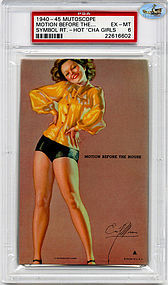 1945 Mutoscope-MOTION BEFORE THE HOUSE-HOTCHA GIRLS-PSA EX - MT 6