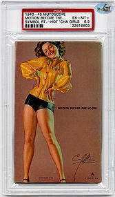 "1945 Mutoscope ""MOTION BEFORE THE HOUSE"" - HOTCHA GIRLS, PSA-EX MT 6"