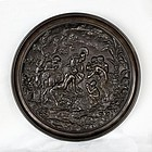 Antique Bronze Cast Plate-Judgment of Paris-Greek Mythology-18th C.