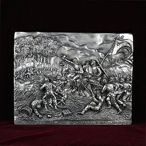 "Henryk Winograd War Plaque ""The Battle of Wilson's Creek"" .925 Silver"