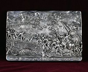 "Henryk Winograd War Plaque ""The Battle of Antietam Sharpsburge"" .925"