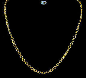 Antique Roman Handmade Gold Chain - Circa 2nd - 4th Century A.D.
