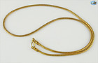 "Roman Style Rope Chain Necklace in 22K Gold - 20 Grams, 22"" Long"