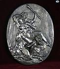 Henryk Winograd .925 Silver Plaque of Demons & Lady-Erotic Scene