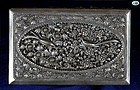 Antique Oriental Silver Box with astonishing Bird Repoussé Work - 1900