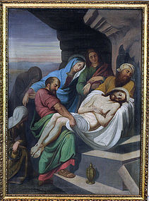 Descent From The Cross, Jesus Lifted Down From The Cross Painting 1920