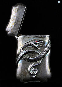 Antique Carter & Howe Sterling Silver Match Safe, New York, Circa 1890