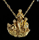 French Figurine Vintage Solid 18K Gold Charm Circa 1910