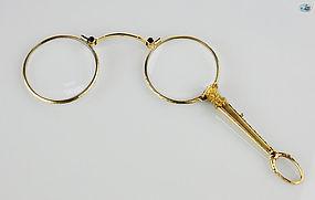 Rare American Vintage 14 Karat Gold Spectacle Eyeglasses Late 1900