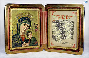 Rare Traveling Mary Icon of Archbishop Richard Cushing 1900