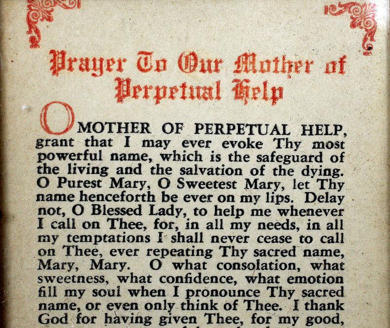 Rare Traveling Mary Icon of Archbishop Richard Cushing 1900