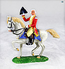 Pristine Vintage Elastolin George Washington Mounted Horse