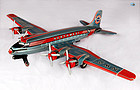 NWA Northwest Airlines 4 Prop Engine Tin Toy Airplane Asahi Japan