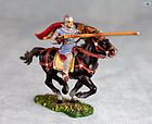 Excellent Vintage Elastolin Mounted Norman Lancer on Black Horse