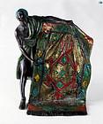 1900 Franz Bergman 'Carpet Seller' Cold Painted Vienna Bronze Statue