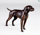 Antique Marvelous Bronze Sculpture of a Robust Dog