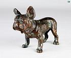 Antique Adorable Bronze Sculpture of a Robust Bulldog