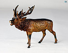 Antique Austrian Cold Painted Deer Bronze Statue