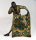 Franz Bergman Style 'Carpet Seller' Cold Painted Bronze Sculpture