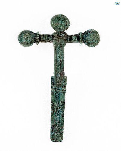 Ancient Roman Bronze Fibula Toga-Pins Brooch C.1st-3rd Century AD