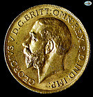 Great Britain-British Sovereign George Gold Coin-Choice UNC-1913