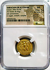 NGC MS THRACIAN SCYTHIAN COSON, AFT 54 BC, GOLD STATER 5/5, 5/5 Coin