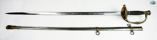 US Model 1860 Hirsch & Co. Staff & Field Officer's Sword Eagle Pommel