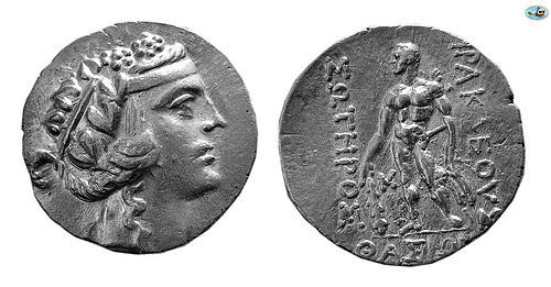 THRACE, ISLAND OF THASOS, 2ND-1ST CENTURIES BC. SILVER TETRADRACHM