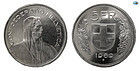 SWITZERLAND, CONFOEDERATIO HELVETICA , SILVER 5 FRANCS, 1969, CHOICE U