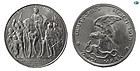 GERMANY, PRUSSIA, SILVER, 2 MARKS, 1913, BERLIN VICTORY OVER NAPOLEON