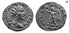Trajan Decius , 249-251 AD, Silver Antoniani, Choice Superb