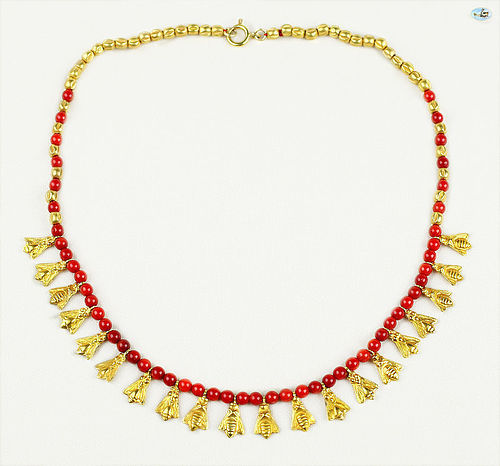 Antique Custom Made 21K Gold Necklace with Phoenician and Roman Gold
