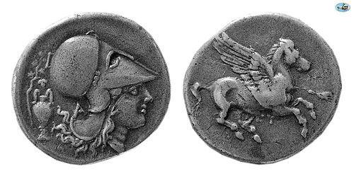 Corinth, 350-300 BC, Silver Stater, BMC XXX VI.15, Choice Good VF