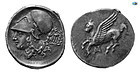 Corinth, 350-300 BC, Silver Stater, S.2250 VAR, Choice Good Very Fine