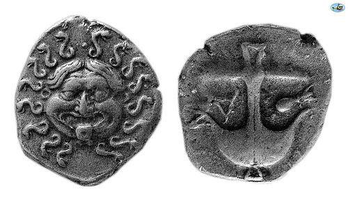 Thrace, Apollonia Pontika, Mid-Late 4th C. BC, Silver Derham,Choice VF