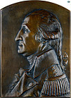 Antique George Washington Bronze Plaque by Italian Luini Costanzo