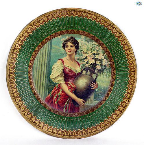 Antique 1907 Adorable Decorative Vienna Art Plate of �Afu Capri�