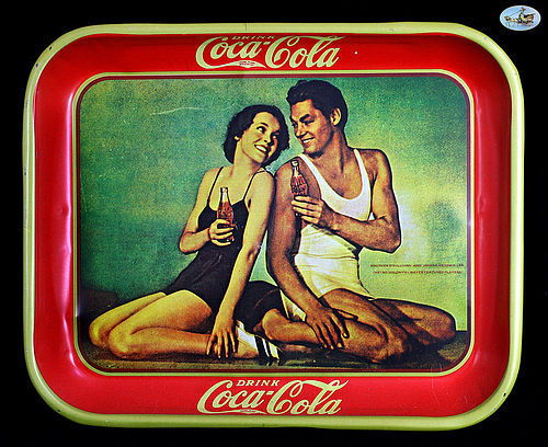 Beautiful Coca-Cola MGM Tarzan Tray - O'Sullivan, Weissmuller