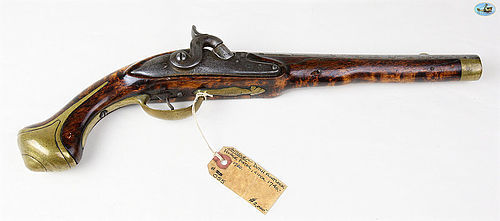 1840European Military Flintlock Holster Pistol Converted to Percussion