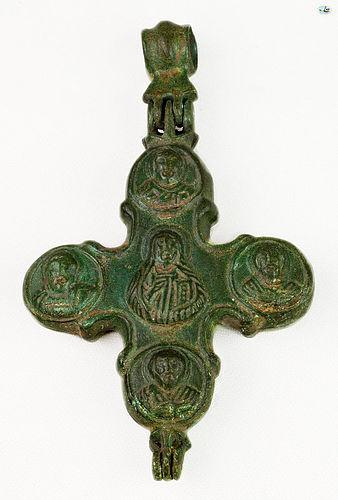 Ancient 12-14th Cent. Christ �Pantokrator� Byzantine Bronze Pendant