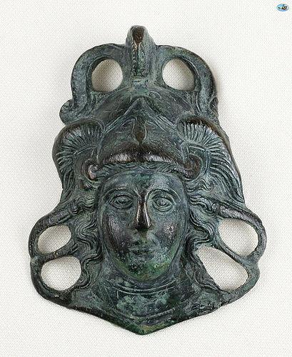 Ancient 2nd-3rd Cent. Roman Bronze �Mercury� Ornamentw/Patina
